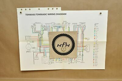 1992 yamaha tdm850 d tdm850 dc factory color schematic wire wiring diagram