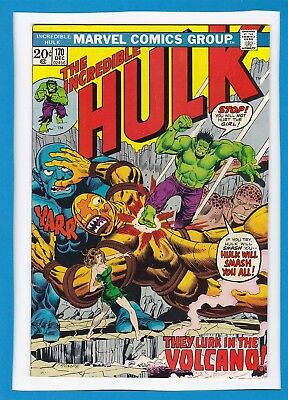 "Incredible Hulk #170_Dec 1973_Very Fine_Big-Feet_""they Lurk In The Volcano""!"