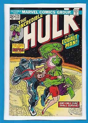"INCREDIBLE HULK #174_APRIL 1974_VF+_""HULK Vs THE COBALT MAN""_BRONZE AGE MARVEL!"