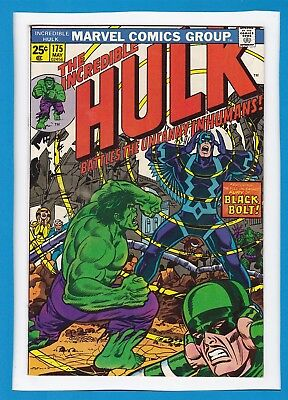 Incredible Hulk #175_May 1974_Very Fine_Inhumans_Black Bolt_Bronze Age Marvel!