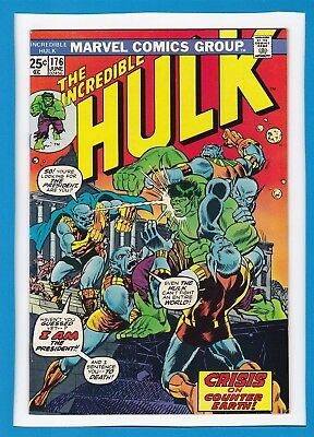 "Incredible Hulk #176_June 1974_Very Fine_""crisis On Counter-Earth""_Bronze Age!"