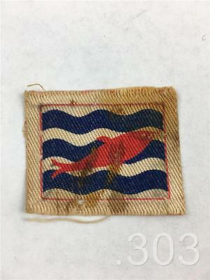 British Military II Corps Red Fish Printed Cloth Formation Badge Patch