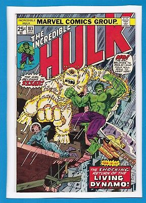 "Incredible Hulk #183_January 1975_Very Fine_""living Dynamo Returns""_Bronze Age!"