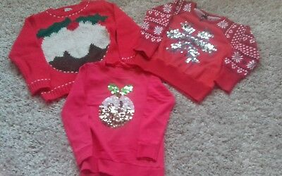 Girls Next Christmas jumper bundle age 4-5 years