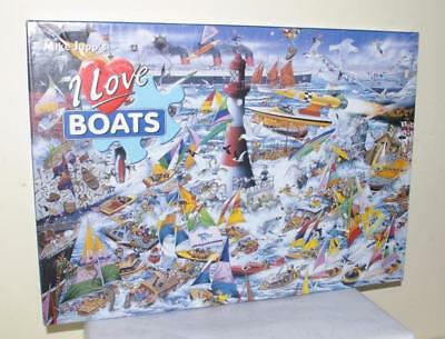 Gibsons Mike Jupp's I Love Boats 1000 Piece Jigsaw Puzzle