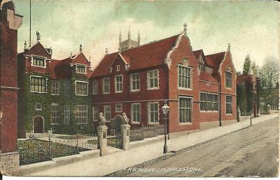 The Museum, Maidstone, Kent (Colour Printed Postcard) 1906