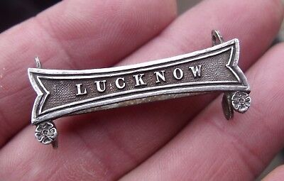 A Silver Lucknow Clasp For Full Size Indian Mutiny Me4Dal.