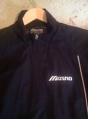 MIZUNO GOLF 100% Polyester Lightweight Jacket with Detachable Sleeve Top Small