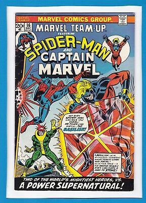 Marvel Team-Up #16_December 1973_Very Fine_Spider-Man_Captain Marvel_Bronze Age!