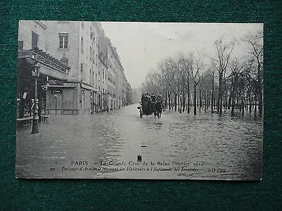 Antique French Postcard 1910 Great Flood of Paris Crue de la Seine de 1910