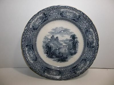 "Antique J MAYER Staffordshire Plate 10"" FLORENTINE Pattern"