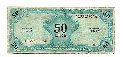 Italy Allied Military (M14b) 50 Lire 1943