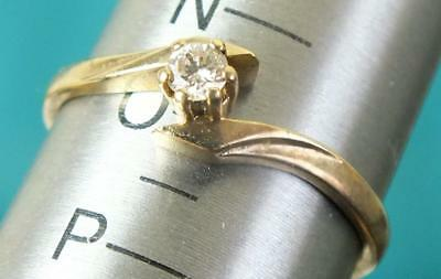 9ct Solid Gold Diamond Solitaire / Engagement Ring - UK Size N to O
