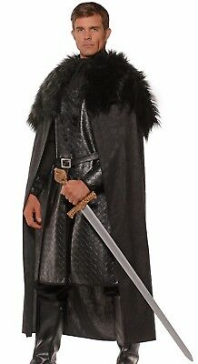 Medieval Cloak Nights Watch Jon Snow Stark Game of Thrones - Fast Ship -