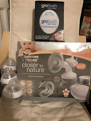 Tommee Tippee Electric Breast Pump Closer to Nature And Gro Hush Baby Calmer. GC