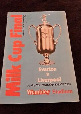 Programme Milk Cup Final Liverpool V Everton 1984