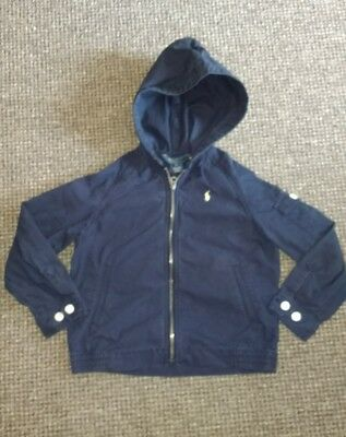 Boys Polo Ralph Lauren navy blue coat age 5-6 years hooded jacket 5 6 designer
