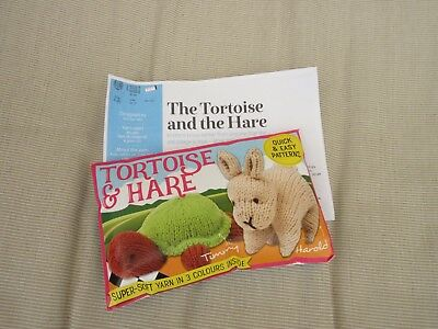 Tortoise & Hare Knitting Kit includes Yarn & Pattern - 'Knit Now' Exclusive