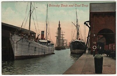 Valentines Printed Photo Postcard Of  Grimsby Dock And Coal Drop, Lincolnshire