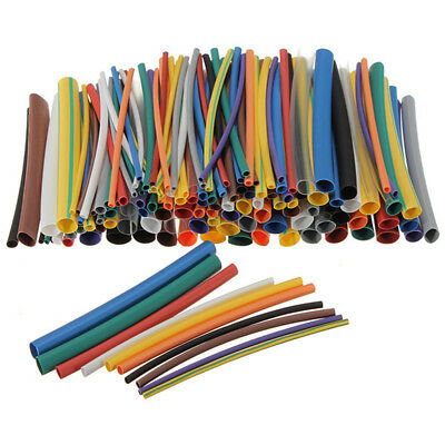 144Pcs Assorted Electrical Cable Heat Shrink Tube Tubing Wrap Sleeve Kit G9O8