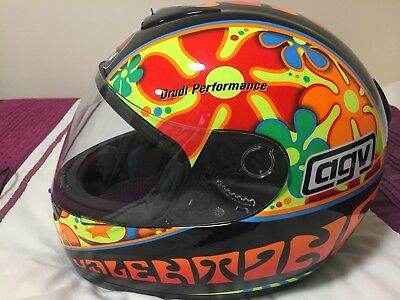 Valentino Rossi AGV Helmet Signed - Flower Power (Authentic - COA Included)