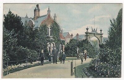 Printed Photo Postcard Of The Park Lodge, Grimsby, Lincolnshire Posted 1906