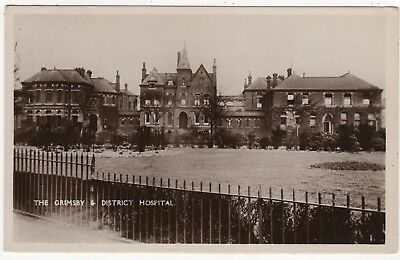Real Photo Postcard Ofthe Grimsby & District Hospital, Grimsby, Lincolnshire