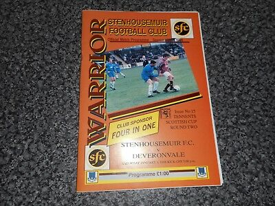 STENHOUSEMUIR  v  DEVERONVALE ( BANFF )  1997/8   SCOTLAND CUP ~ JANUARY 3rd