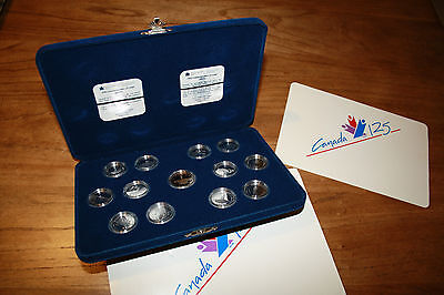 1992 Silver proof quarters set canada 125 commemorative