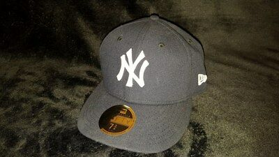 NEW ERA New York Yankee's 59 Fifty Official Game NAVY Fitted Baseball Cap 7 3/4