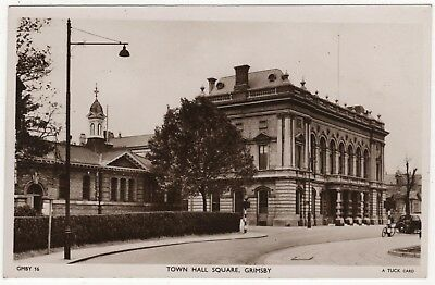 Tuck's Real Photo Postcard Of Town Hall Sqaure, Grimsby, Lincolnshire