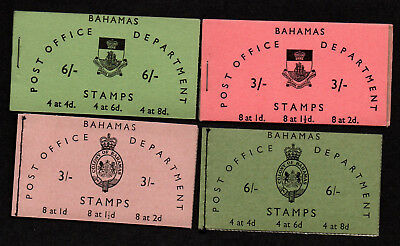 $Bahamas SG# SB1-SB4 M/NH 4 complete Booklets, 2 inverted stamps