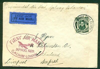 1929 Ireland First Flight Cover