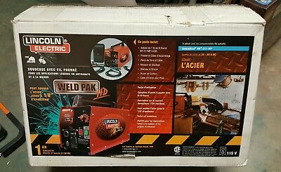 Lincoln Electric Weld Pack Hd Feed Welder Flux-Cored Wire Portable, Free Ship