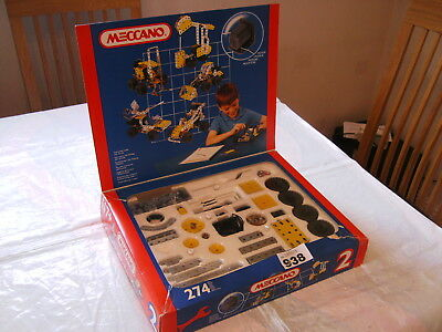 VINTAGE MECCANO BOXED SET 2 WITH 3V 6V MOTOR in excellent condition