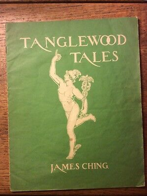 Tanglewood Tales James Ching Piano Sheet Music Vintage Vg Condition
