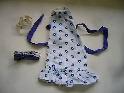 Vintage 1970 Pedigree Sindy Belle Of The Ball Dress & Two 1960s Bra 12S67