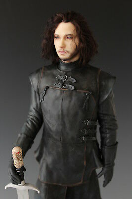 Jon Snow OOAK Game Of Thrones The White Wolf King In The North by Renata Jansen