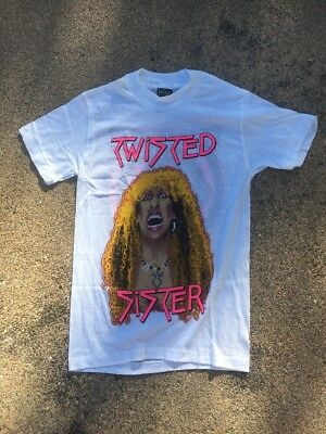 RARE Vintage Twisted Sister Dee Snider Concert Tour 1980s Rock Tee T Shirt Small