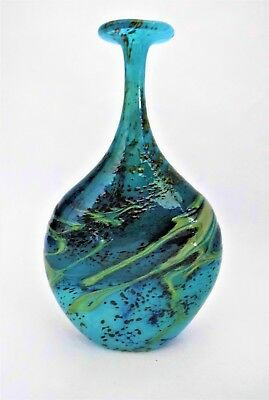 PETER LAYTON British Studio Art Glass vase  sculpture  Signed