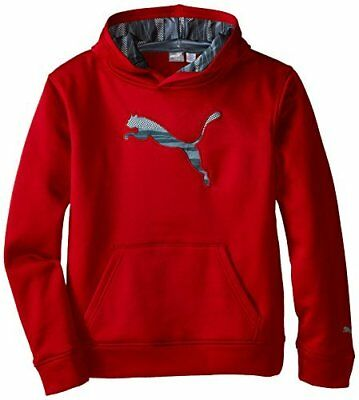 PUMA Kids Boys Big Cat Hoodie Red Black Logo Size Large (14-16) L MSRP $40