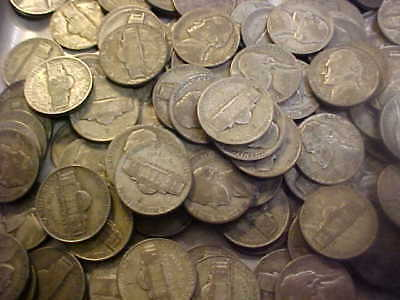 Lot of  140  Silver War Time Nickels United States Coins ALL 35% Silver PDS incl