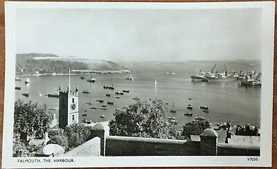Falmouth The Harbour - Photochrom Unwritten Postcard