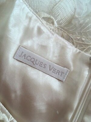 💐Stunning Luxurious JACQUES VERT Fitted Occasion Top Cream Lace Organza 14 NWOT
