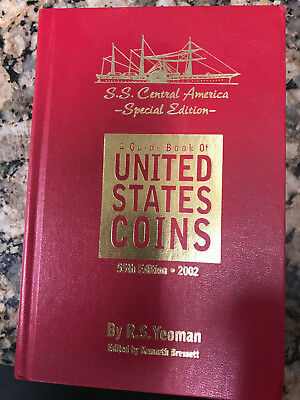 2002 SS Central America SPECIAL EDITION 55th United States Coins Red Book, New!