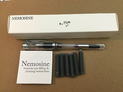 Nemosine Singularity Fountain Pen 0.6 mm Stub Nib US Bidders Only