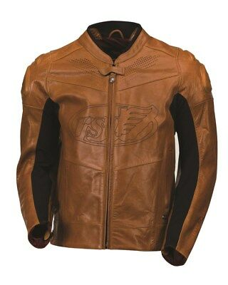 ROLAND SANDS DESIGNS Zuma Leather Motorcycle Jacket Brown Men's