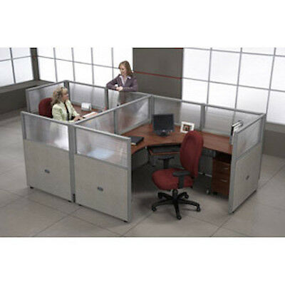 Ofm Rize Workstations R1x2-4772-P Cubicle Work System With Transluscent Polycarb