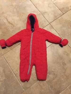 Next Boys Red Star Snowsuit Age12-18 Months - Great Condition
