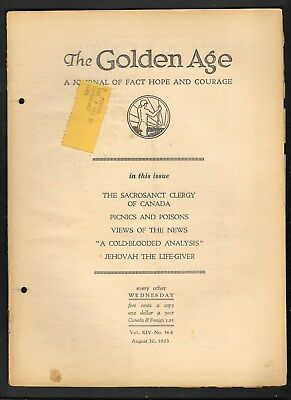 Watchtower: The Golden Age - Aug 30 - 1933 No. 364